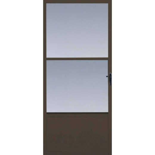 Larson Comfort-Bilt 32 In. W x 81 In. H x 1 In. Thick Brown Self-Storing Aluminum Storm Door