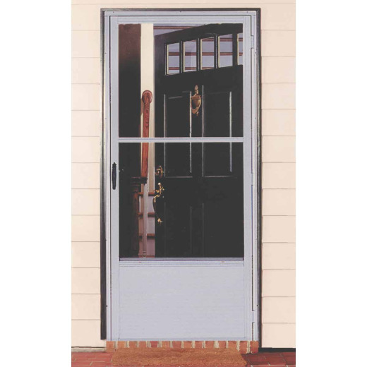 Croft Imperial Style 36 In. W x 80 In. H x 1-7/8 In. Thick Bronze Self-Storing Aluminum Storm Door