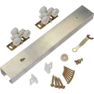Johnson Hardware 36 In. W. Pocket Door Hardware Set with 72 In. Track