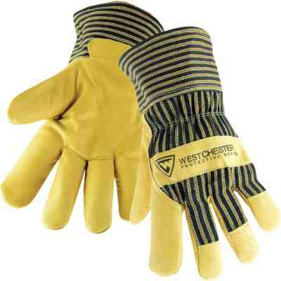 West Chester Protective Gear Men's Large Grain Pigskin Leather Work Glove