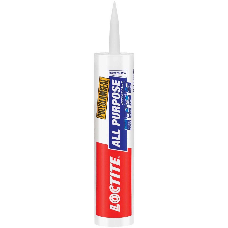LOCTITE POLYSEAMSEAL 10 Oz. White Adhesive Caulk Image 1