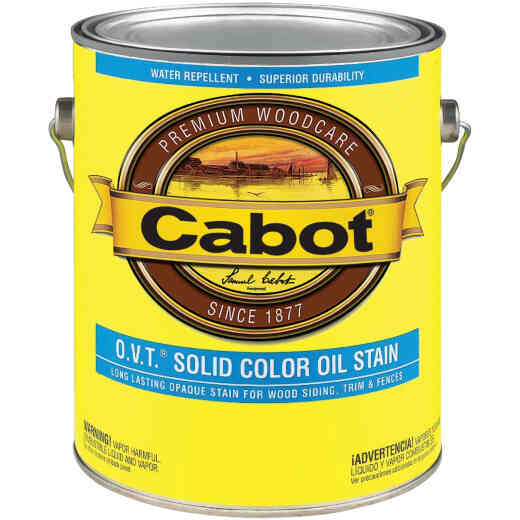 Cabot O.V.T. Solid Color Oil Exterior Stain, Deep Base, 1 Gal.