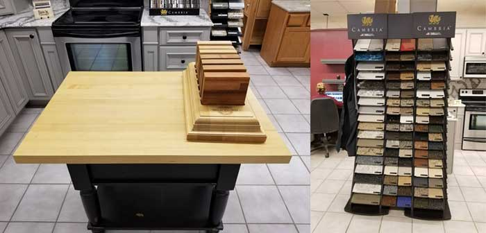 image of countertops and samples